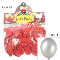 "12"" Plain Metallic Balloon Party - Deep Orange (24pcs)"