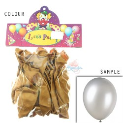 "12"" Plain Metallic Balloon Party - Gold (24pcs)"