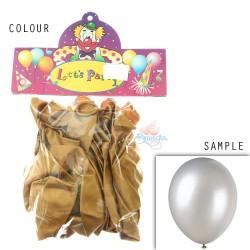 "12"" Plain Metallic Balloon Party - Gold (24pcs)"