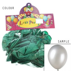 "12"" Plain Metallic Balloon Party - Green (24pcs)"