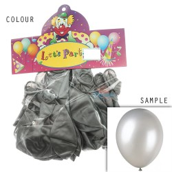 "12"" Plain Metallic Balloon Party - Grey (24pcs)"