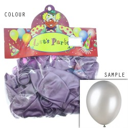 "12"" Plain Metallic Balloon Party - Light Purple (24pcs)"