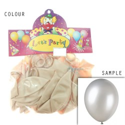 "12"" Plain Metallic Balloon Party - Off White (24pcs)"