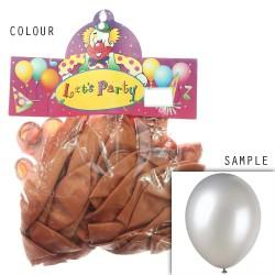 "12"" Plain Metallic Balloon Party - Orange Brown (24pcs)"