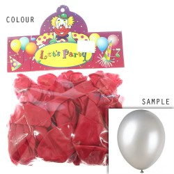 "12"" Plain Metallic Balloon Party - Red (24pcs)"