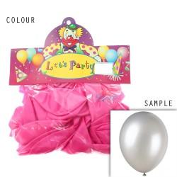 """12"""" Plain Metallic Balloon Party - Shocking Pink (24pcs)"""
