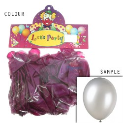"12"" Plain Metallic Balloon Party - Violet Purple (24pcs)"