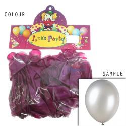 "12"" Plain Metallic Balloon Party - Violet Purple (24pcs)"
