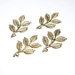 Gold Plated Filigree Leaf - 4 pcs/pack