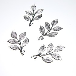 Silver Plated Filigree Leaf - 4 pcs/pack