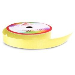 #007 Senorita Polyester Ribbon - Lemon (9mm, 15mm, 24mm, 38mm)