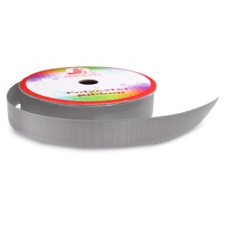 #061 Senorita Polyester Ribbon - Metal Grey (9mm, 15mm, 24mm, 38mm)