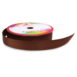 #068 Senorita Polyester Ribbon - Coffee (9mm, 15mm, 24mm, 38mm)