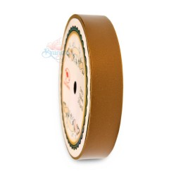 19MM Solid PP Fancy Ribbon Gold Brown - 1 Roll
