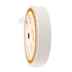 19MM Solid PP Fancy Ribbon Plain White - 1 Roll