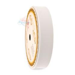 19MM Solid PP Fancy Ribbon Plain White - 1 Roll