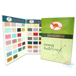 "#1 Kangaroo Premium Voile Scarf Tudung Bawal Plain 45"" (Full Colour Catalogue)"