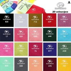 """(A) Random Colour Kangaroo Premium Voile Scarf Tudung Bawal Plain 45"""" - 20pcs"""