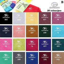 "(B) Random Colour Kangaroo Premium Voile Scarf Tudung Bawal Plain 45"" - 20pcs"