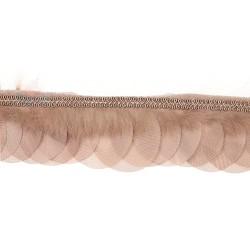 Round Feather Trimming Lace Cappucino - 1 Meter