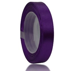 12mm Senorita Satin Ribbon - Dark Purple 14