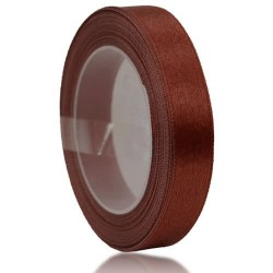 12mm Senorita Satin Ribbon - Chestnut 225