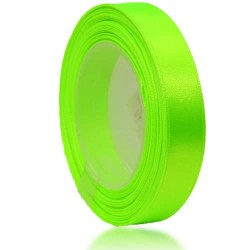12mm Senorita Satin Ribbon - Neon Green 236