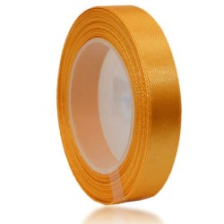 12mm Senorita Satin Ribbon - Moon Yellow 245