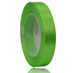 12mm Senorita Satin Ribbon - Bright Green 251
