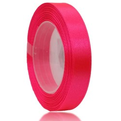 12mm Senorita Satin Ribbon - Fluorescent Pink F106