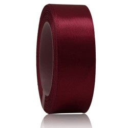 24mm Senorita Satin Ribbon - Maroon 028