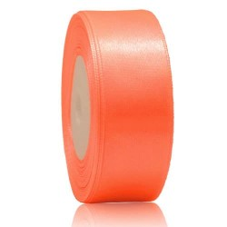 24mm Senorita Satin Ribbon - Coral 08