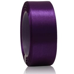 24mm Senorita Satin Ribbon - Dark Purple 14