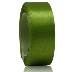 24mm Senorita Satin Ribbon - Olove Green 208