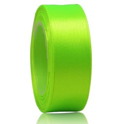 24mm Senorita Satin Ribbon - Neon Green 236