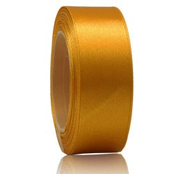 24mm Senorita Satin Ribbon - Moon Yellow 245