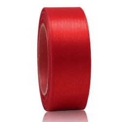 24mm Senorita Satin Ribbon - Red 28