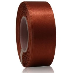 24mm Senorita Satin Ribbon - Cinnamon 568
