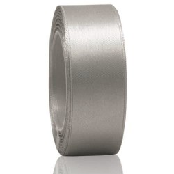24mm Senorita Satin Ribbon - Light Grey 77
