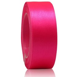 24mm Senorita Satin Ribbon - Fluorescent Pink F106