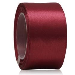 36mm Senorita Satin Ribbon - Maroon 028