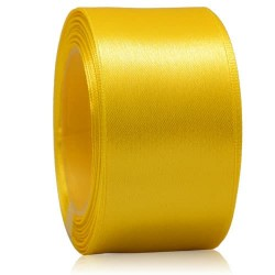 36mm Senorita Satin Ribbon - Yellow 3