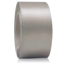 36mm Senorita Satin Ribbon - Light Grey 77