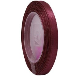 6mm Senorita Satin Ribbon - Maroon 028