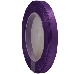 6mm Senorita Satin Ribbon - Dark Purple 14