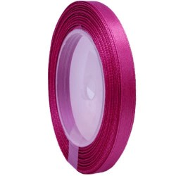 6mm Senorita Satin Ribbon - Fuchsia 17