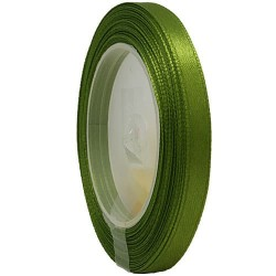 6mm Senorita Satin Ribbon - Olive Green 208