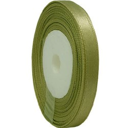6mm Senorita Satin Ribbon - Moss Green 209
