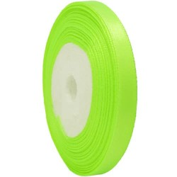 6mm Senorita Satin Ribbon - Neon Green 236