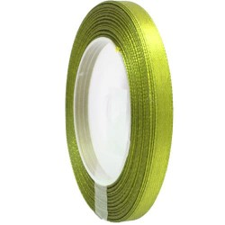 6mm Senorita Satin Ribbon - Lime 237